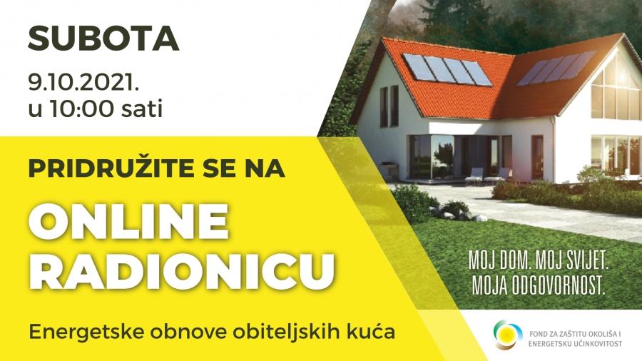 Online radionica energetske obnove obiteljskih kuća