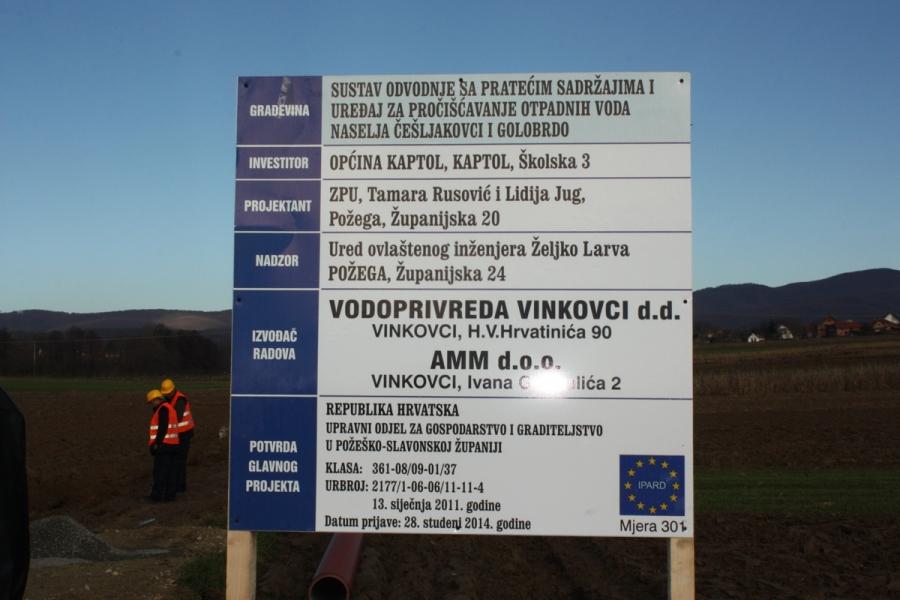 Župan otvorio radove na izgradnji sustava odvodnje u općini Kaptol