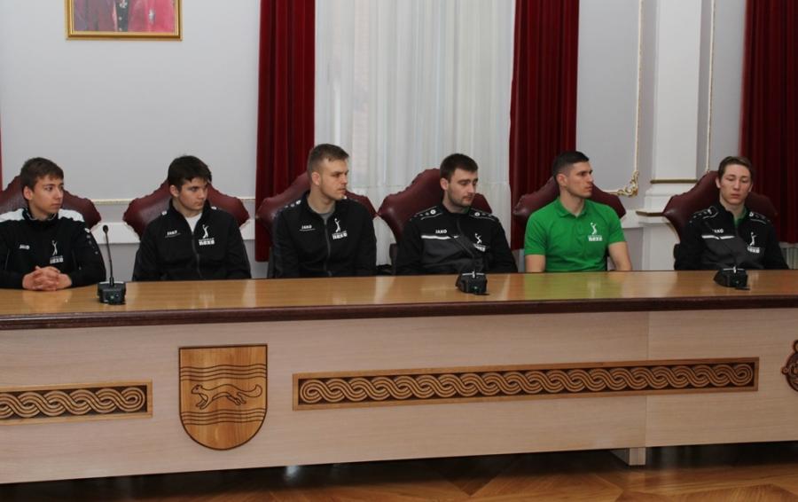 Rukometni klub Nexe na prijemu u Županiji