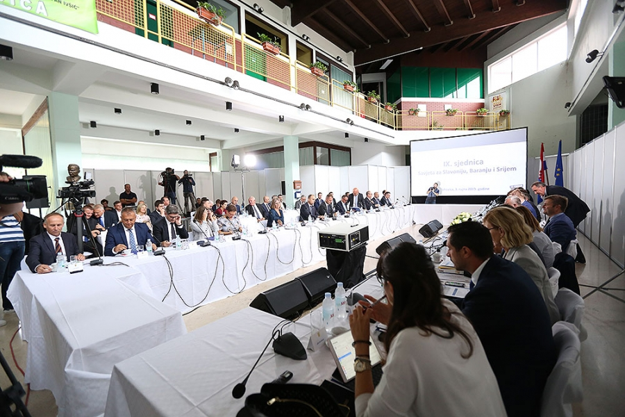 9. sjednica Savjeta za Slavoniju, Baranju i Srijem održana u Orahovici
