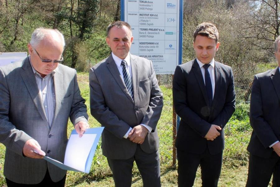 Župan otvorio radove na novom filtarskom postrojenju u Kutjevu