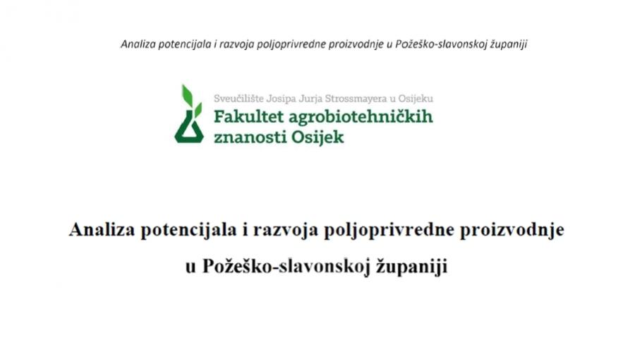 """Komentirajte nacrt """"Analiza potencijala i razvoja poljoprivredne proizvodnje u Požeško-slavonskoj županiji"""""""
