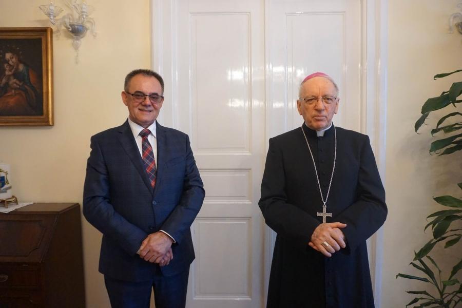 Župan na prijemu kod biskupa Antuna Škvorčevića