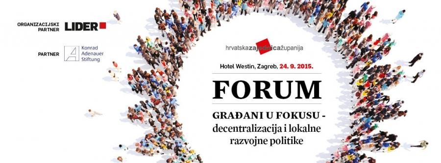 Hrvatska zajednica županija organizira forum o decentralizaciji i lokalnim razvojnim politikama