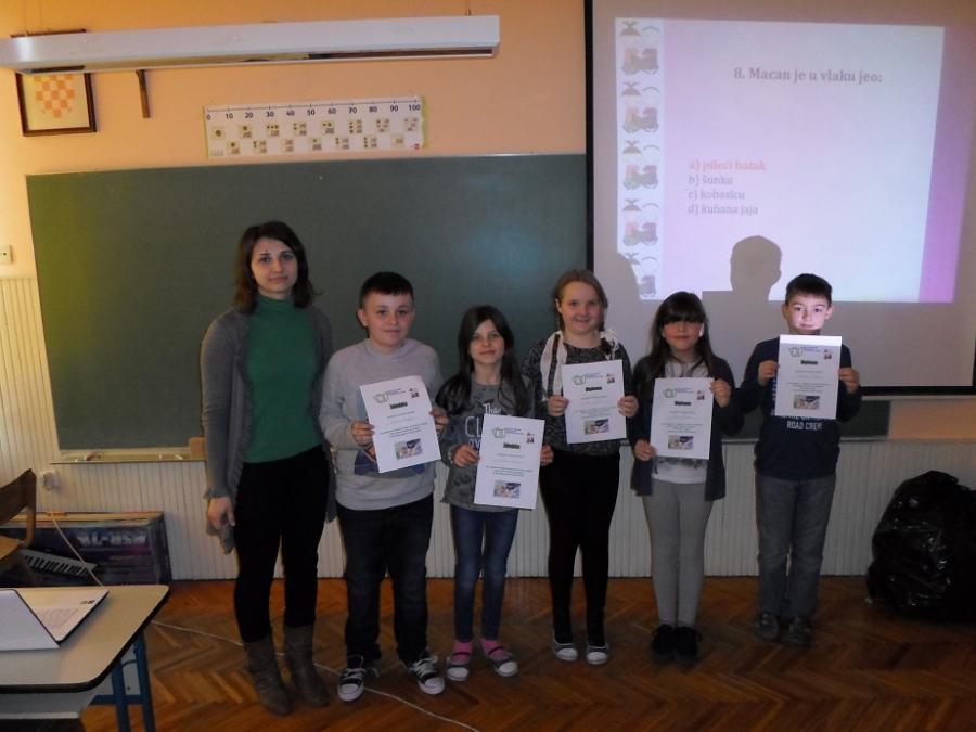 Osnovnoškolci iz Čaglina u kvizu znanja