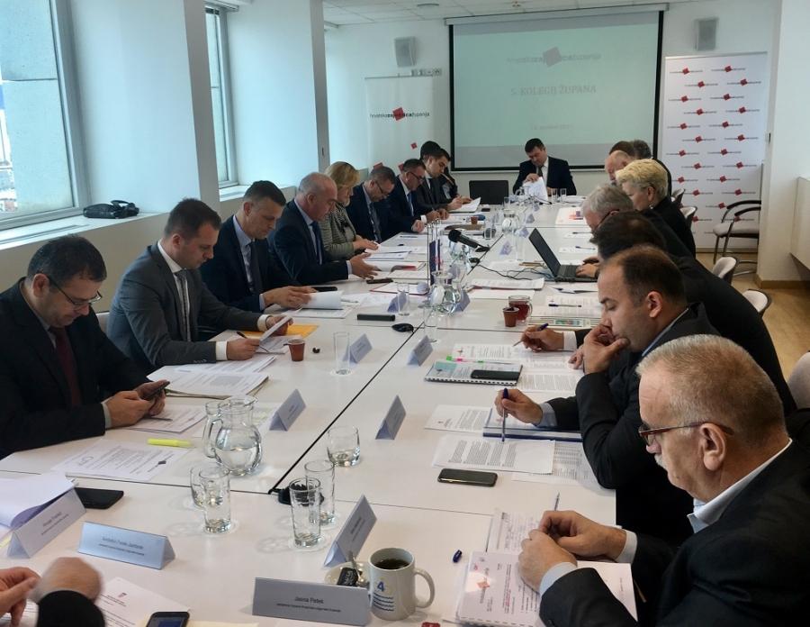 U Hrvatskoj zajednici županija održan peti kolegij župana