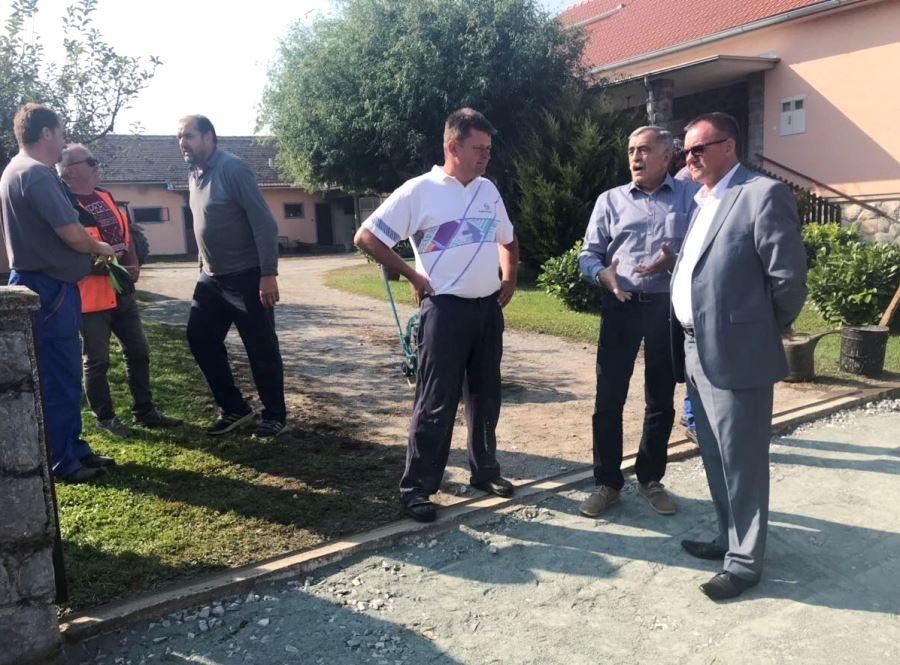 Župan Tomašević obišao radove na cesti Brekinska - Goveđe Polje i Gornja Obrijež - Donja Obrijež - Kapetanovo Polje