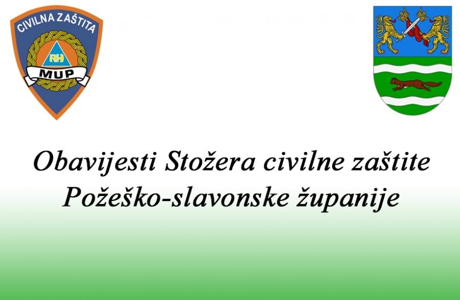 Trenutno stanje u Požeško - slavonskoj županiji dana 09. kolovoza 2020. godine