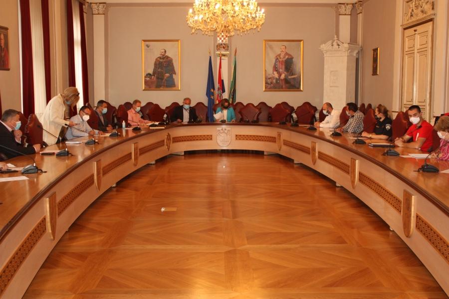 Stožer civilne zaštite Požeško – slavonske županije održao prvi sastanak sa županicom i novim načelnikom stožera