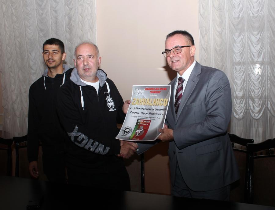 Karate-do klub Požega na prijemu kod župana