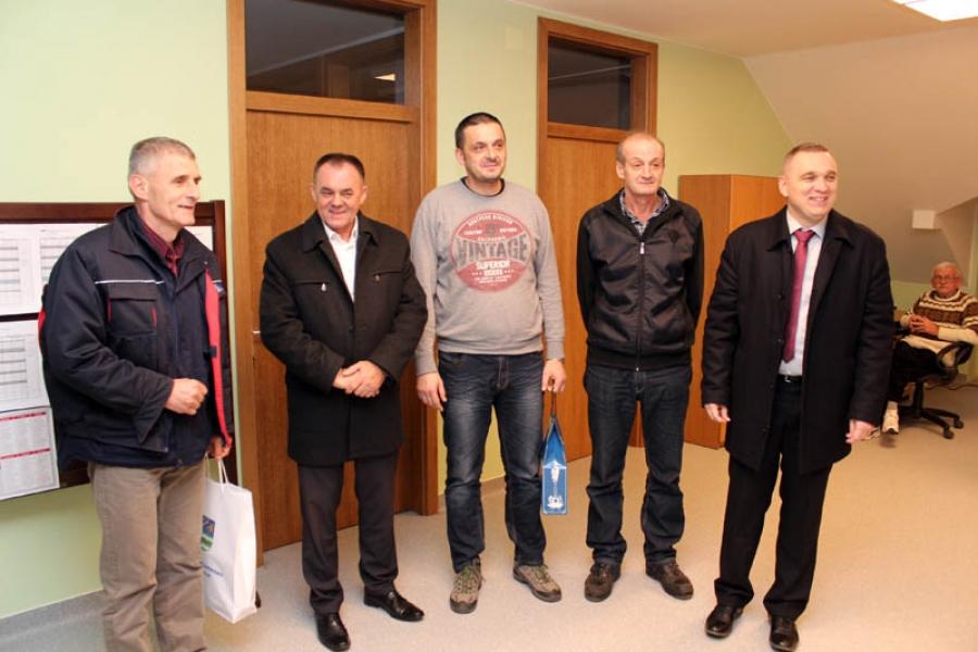 Župan obišao dežurne službe