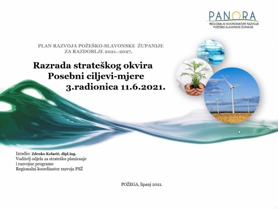Održana treća radionica Radnih timova za izradu Plana razvoja Požeško-slavonske županije