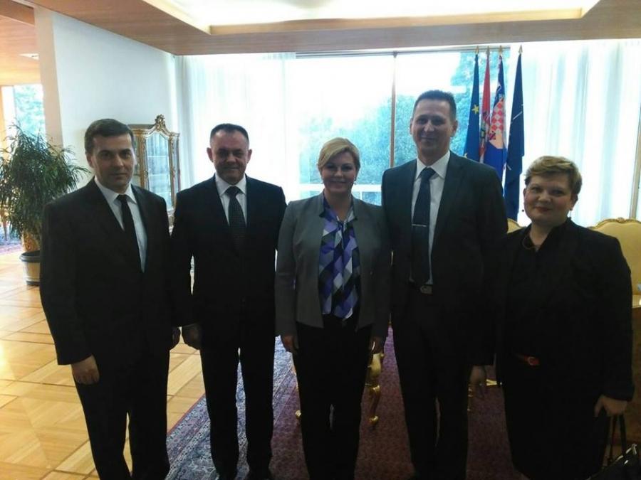 Župan Tomašević kod predsjednice Republike Hrvatske Kolinde Grabar - Kitarović