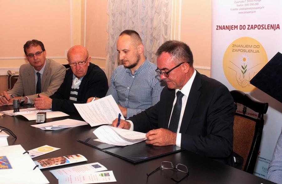 """Potpisivanje ugovora o edukaciji u sklopu projekta ,,Znanjem do zaposlenja"""""""