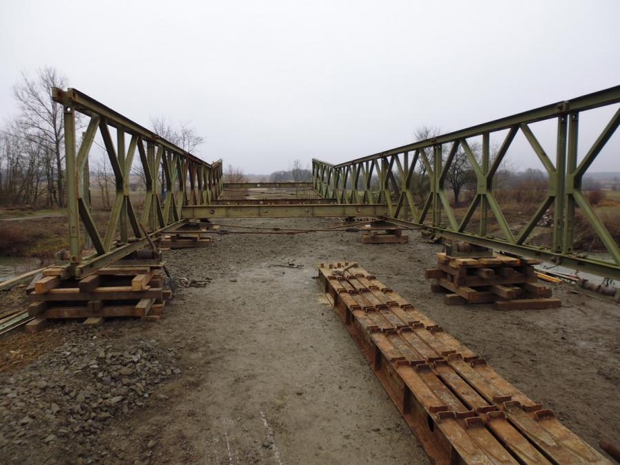 Započelo postavljanje mosta u Boričevcima