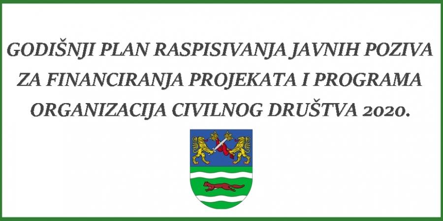 Godišnji plan raspisivanja javnih poziva za financiranja projekata i programa organizacija civilnog društva 2020.